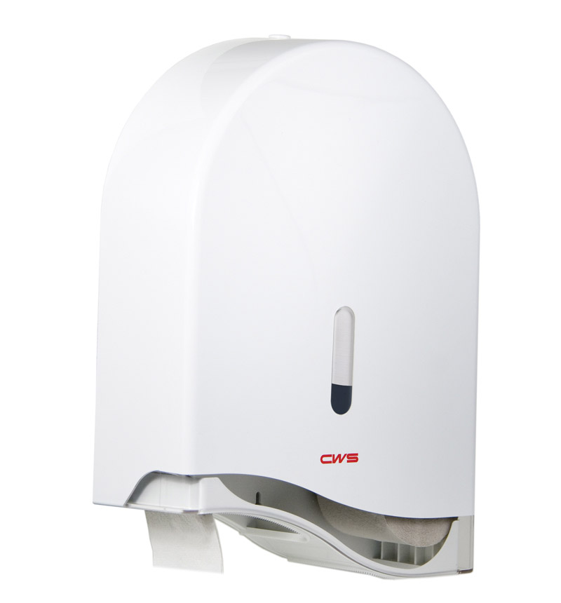 Podajnik papieru toaletowego na dużą rolkę